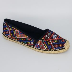 Aldo Espadrilles Tribal Cross Stitch Size 9